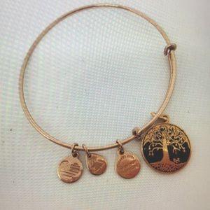 Alex & Ani Charcoal Tree of Life Bangle Bracelet